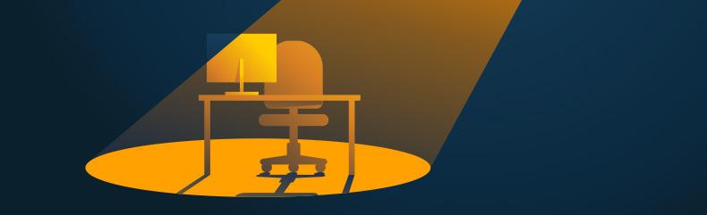 Desk chair in the light - October 8 2021 blog image